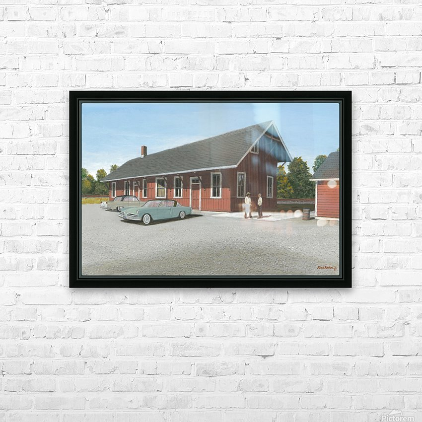 Station Scene - Newtown Series 16X24  HD Sublimation Metal print with Decorating Float Frame (BOX)
