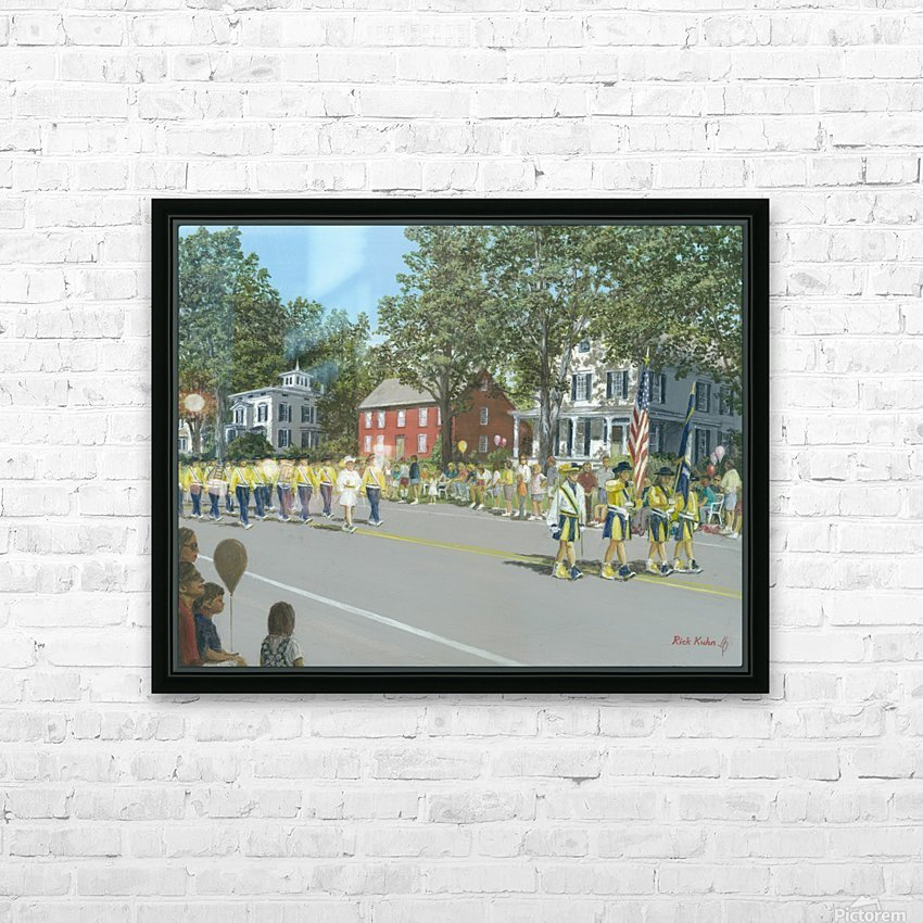 Labor Day Parade - Newtown Series 14X18 HD Sublimation Metal print with Decorating Float Frame (BOX)