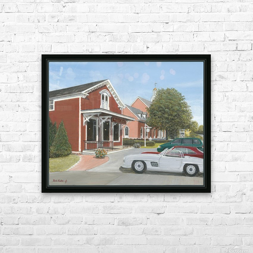 Town Hall and Store - Newtown Series 16X20  HD Sublimation Metal print with Decorating Float Frame (BOX)
