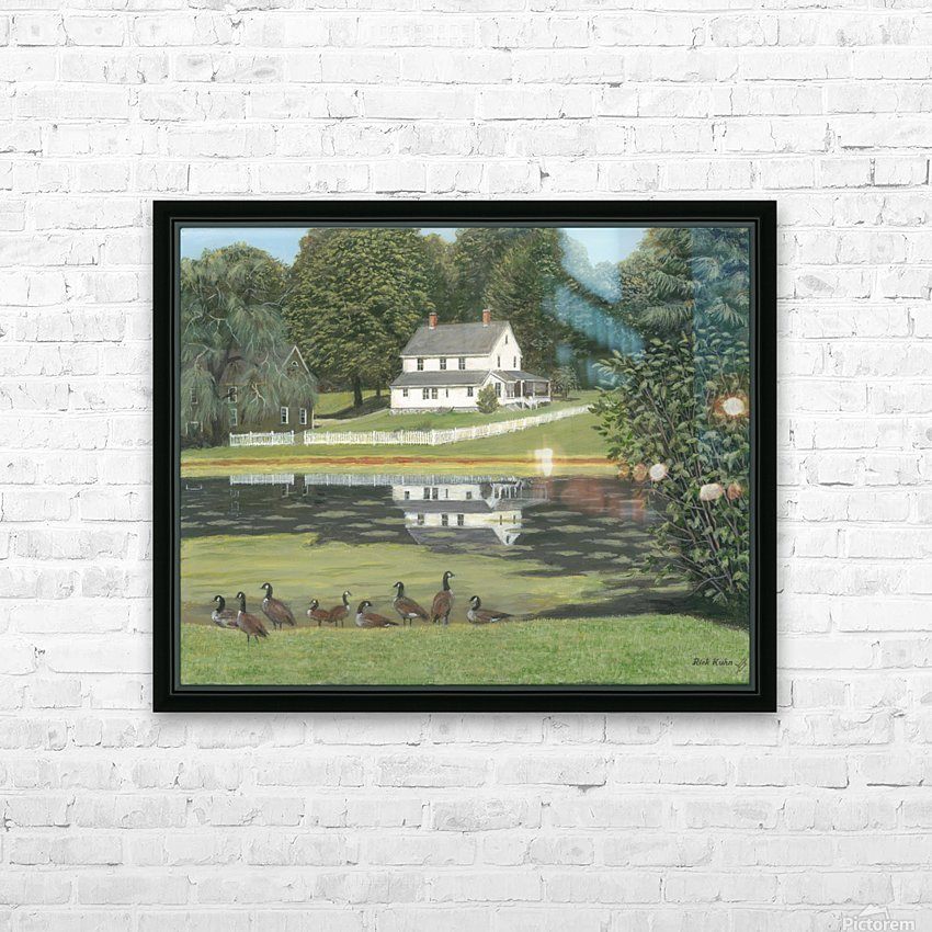 Geese at Hawley Pond - Newtown Series 16X20 HD Sublimation Metal print with Decorating Float Frame (BOX)