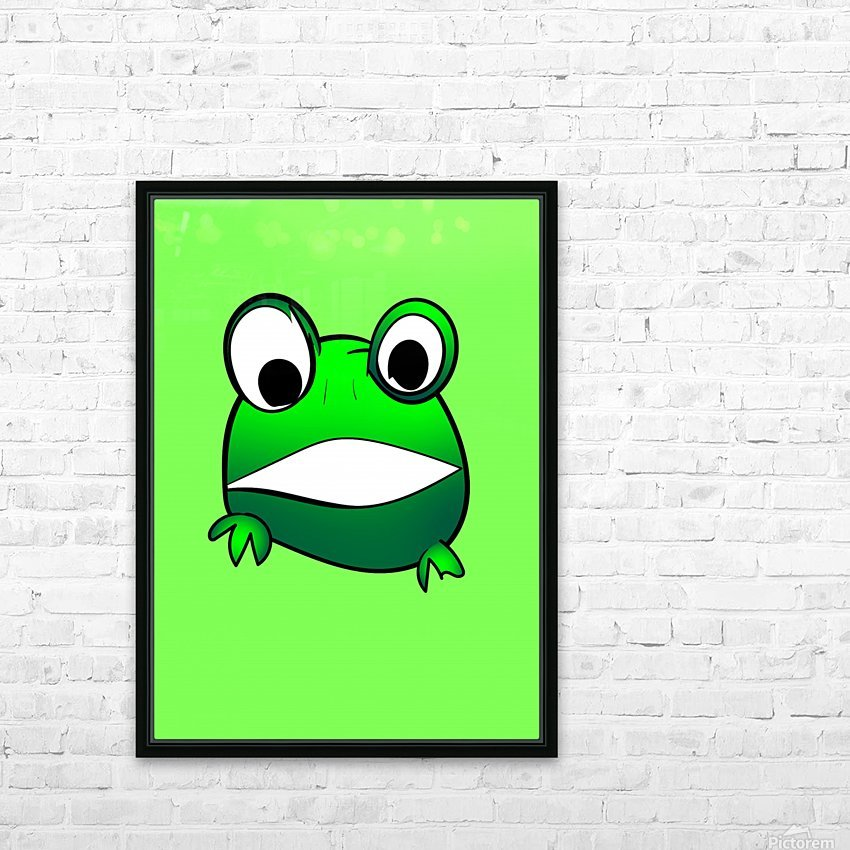 cute little frog HD Sublimation Metal print with Decorating Float Frame (BOX)