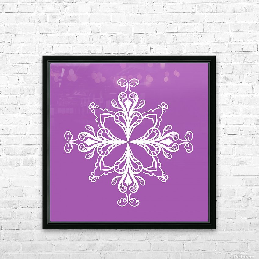 symmetrical doodle HD Sublimation Metal print with Decorating Float Frame (BOX)