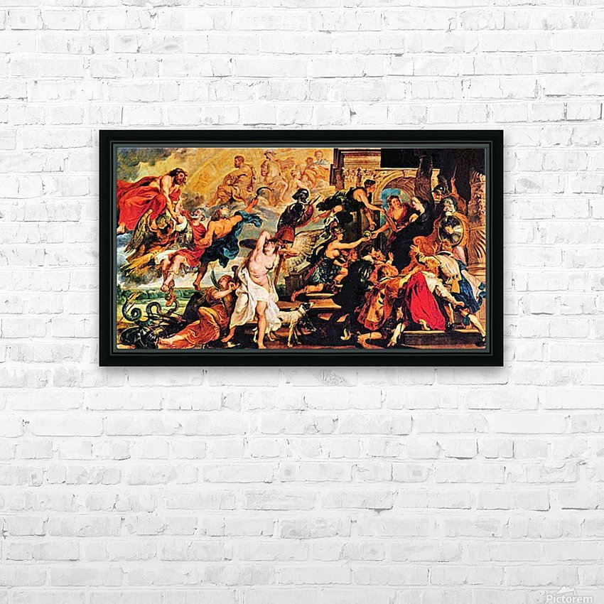 Medici s and the Apotheosis of Henry IV by Rubens HD Sublimation Metal print with Decorating Float Frame (BOX)