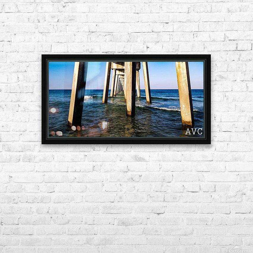 Good Morning Pier HD Sublimation Metal print with Decorating Float Frame (BOX)