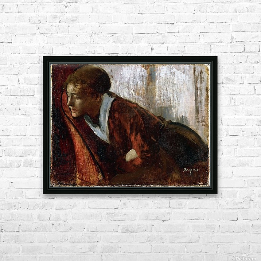 Melancholy by Degas HD Sublimation Metal print with Decorating Float Frame (BOX)