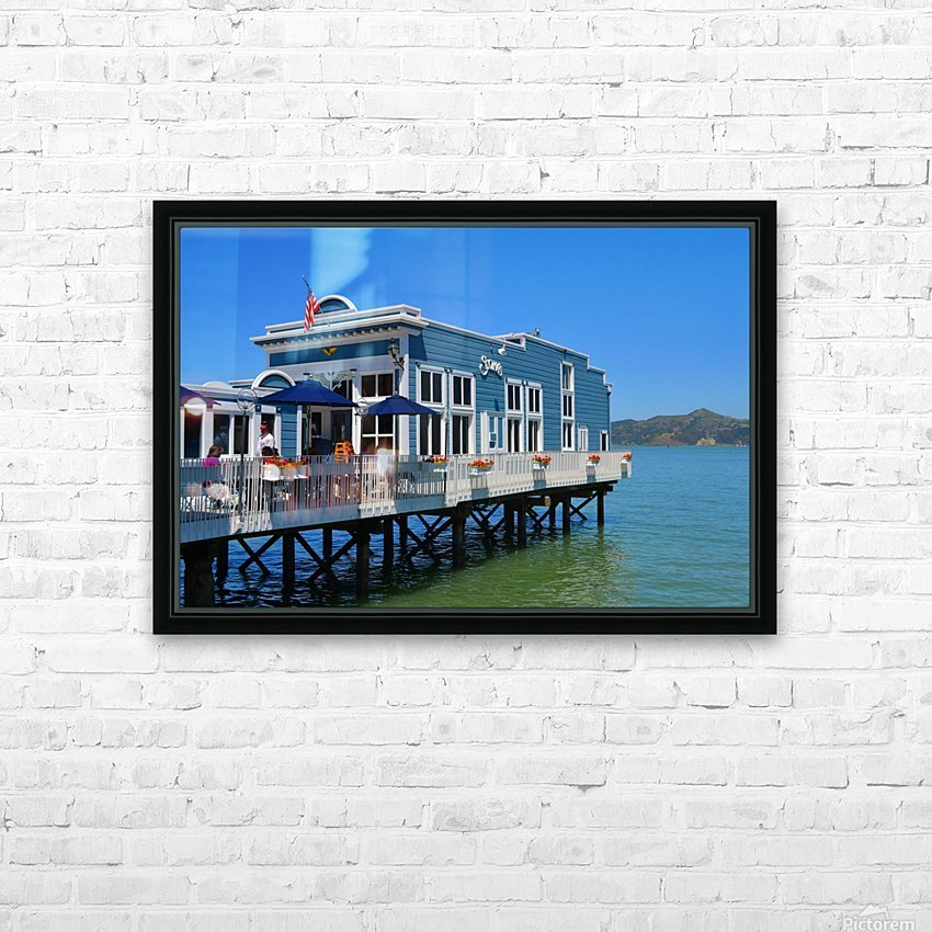 River House HD Sublimation Metal print with Decorating Float Frame (BOX)