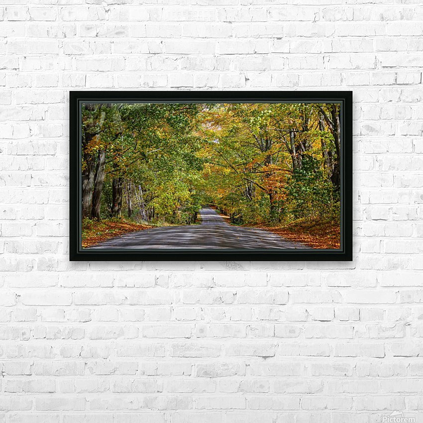 Fall Colors over a Country Road HD Sublimation Metal print with Decorating Float Frame (BOX)