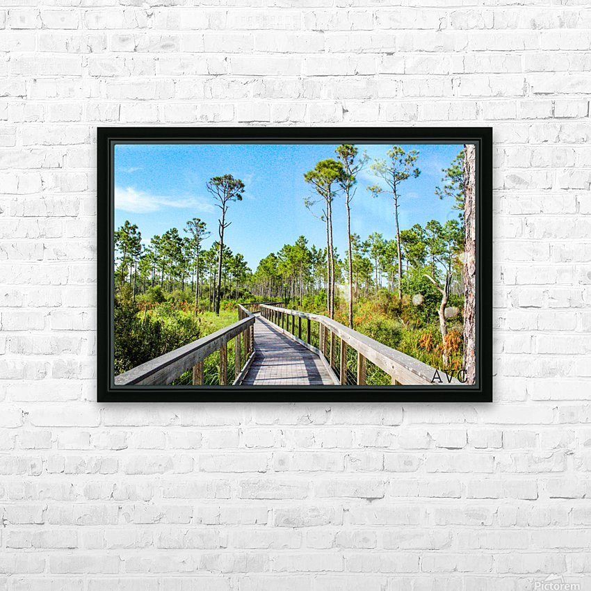 Bridge Walk HD Sublimation Metal print with Decorating Float Frame (BOX)