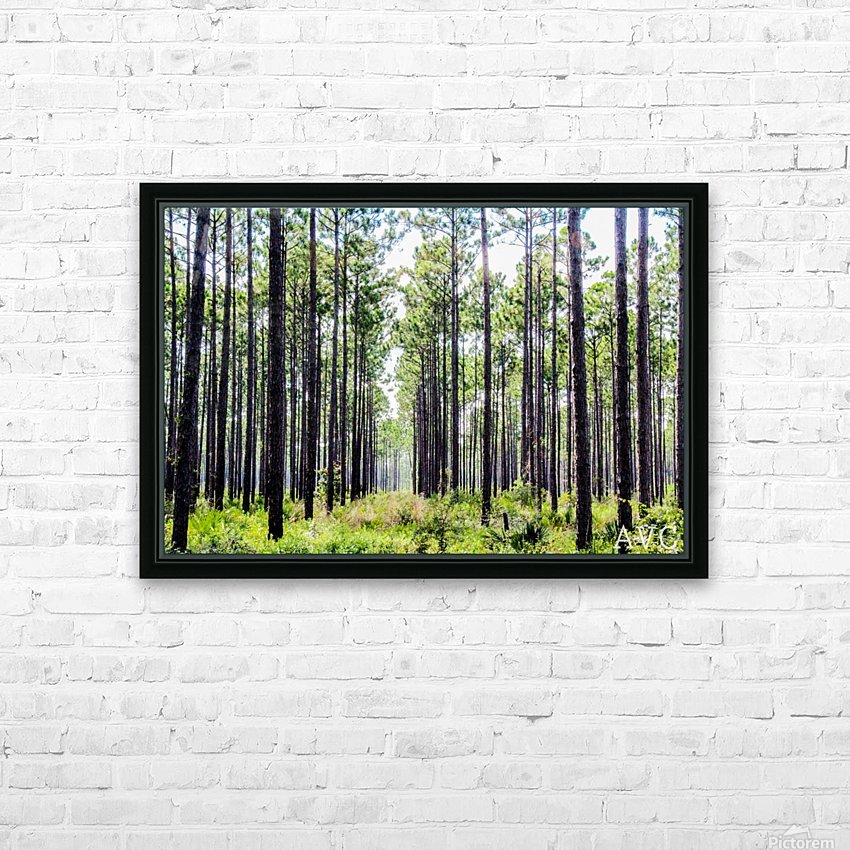Forest Escape HD Sublimation Metal print with Decorating Float Frame (BOX)