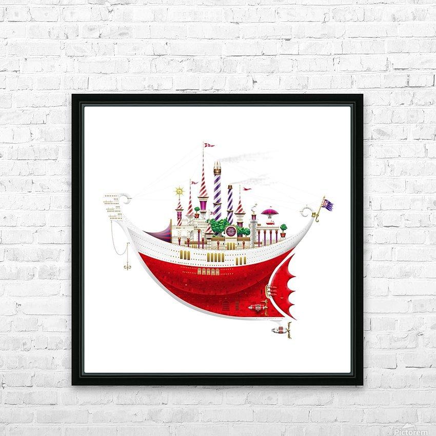 Crocciere Gondollino HD Sublimation Metal print with Decorating Float Frame (BOX)