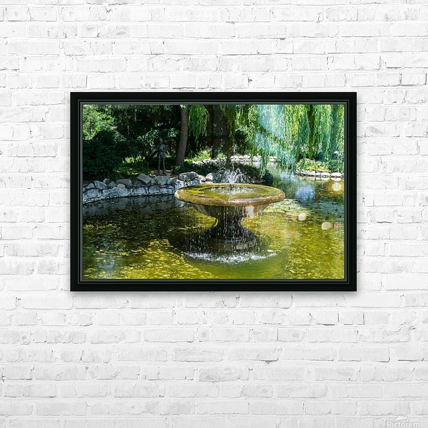 Refreshing Summer - the Little Fisherman Fountain Cheerfully Splashing in the Sunshine HD Sublimation Metal print with Decorating Float Frame (BOX)