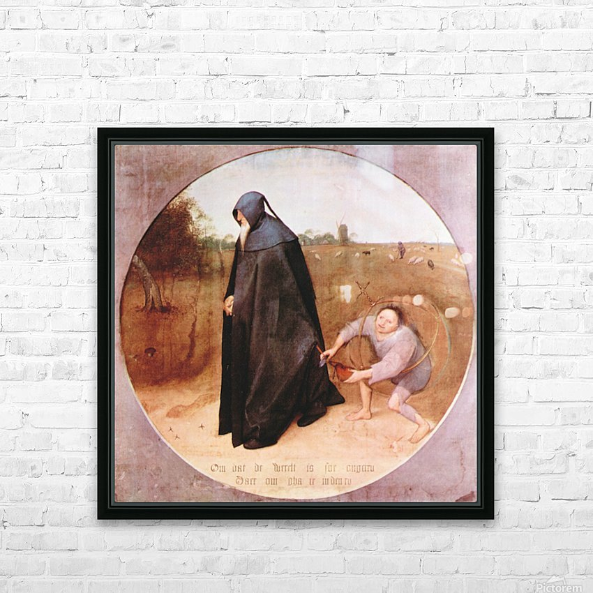 Misanthrope by Pieter Bruegel HD Sublimation Metal print with Decorating Float Frame (BOX)