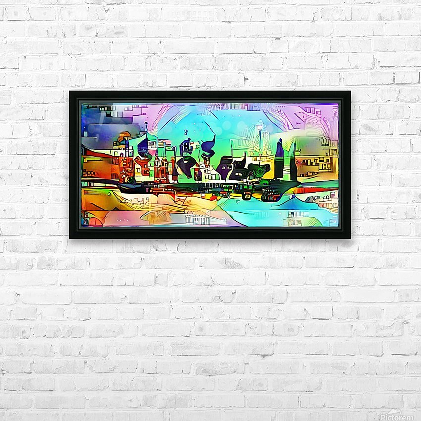 city5 ship HD Sublimation Metal print with Decorating Float Frame (BOX)