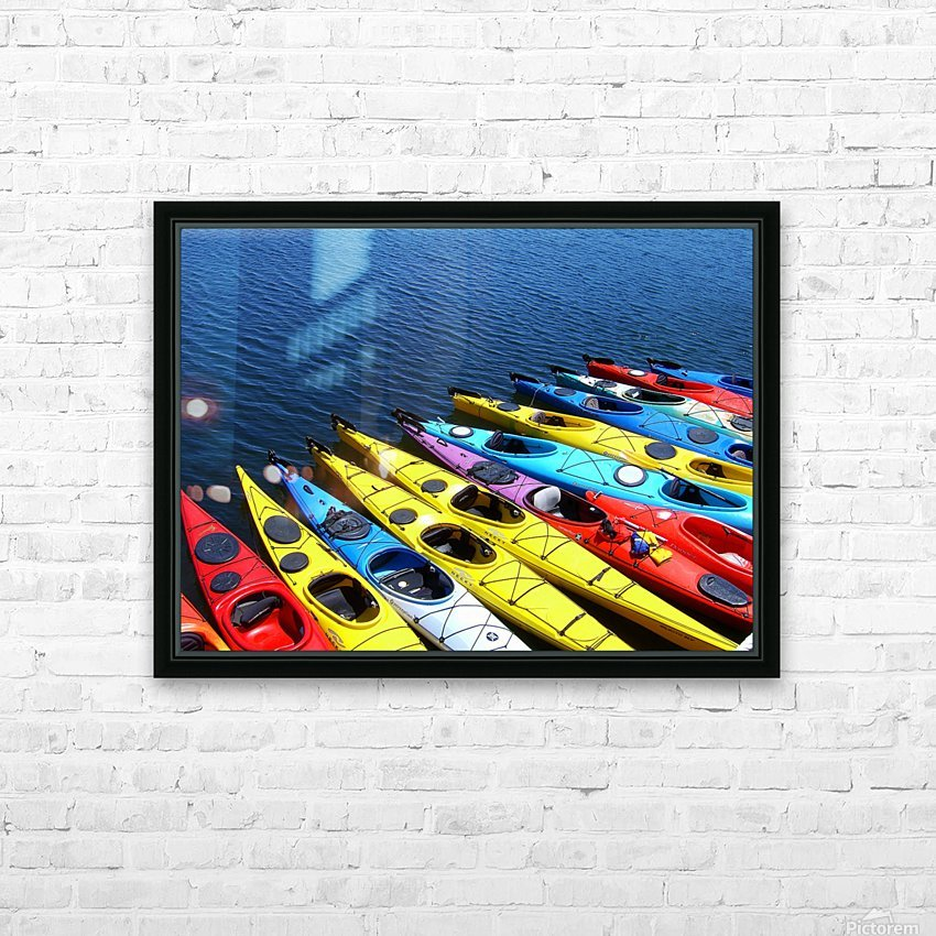Colorful Kayaks HD Sublimation Metal print with Decorating Float Frame (BOX)