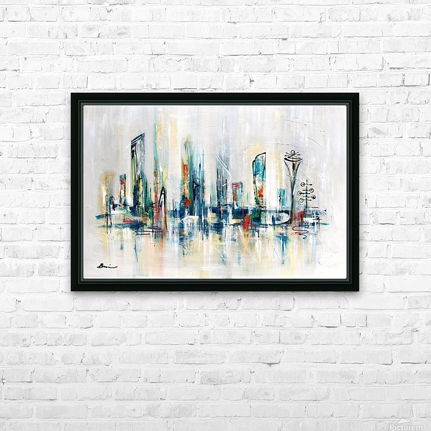 Uptown XXV HD Sublimation Metal print with Decorating Float Frame (BOX)