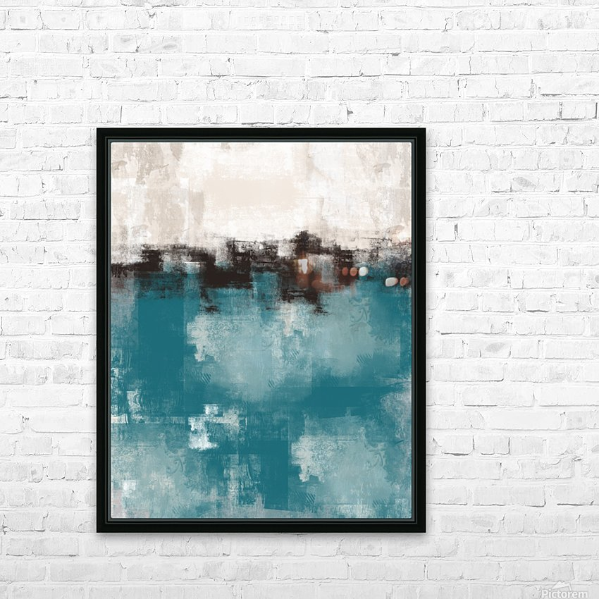 Blue Gray Black Abstract DAP 20013 HD Sublimation Metal print with Decorating Float Frame (BOX)