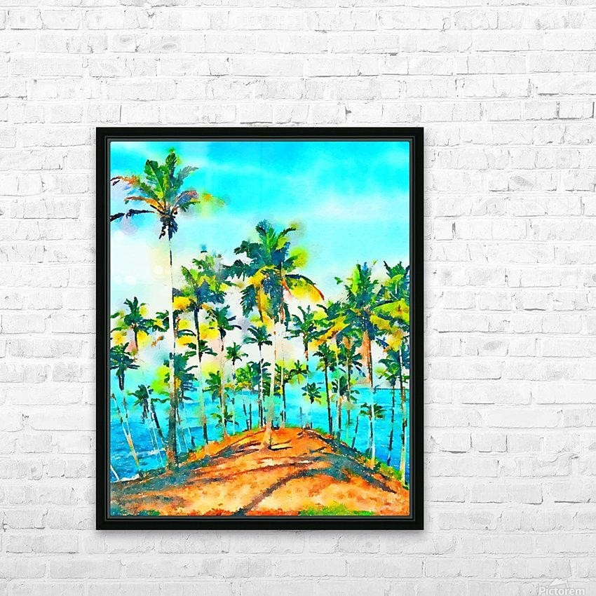 Seas the Day HD Sublimation Metal print with Decorating Float Frame (BOX)