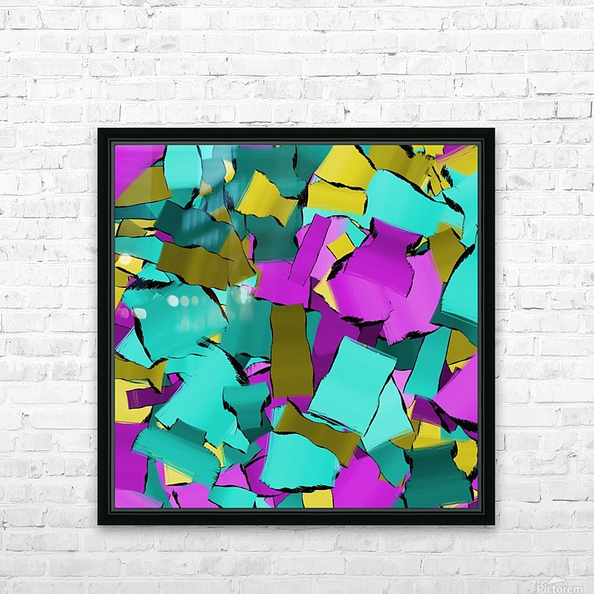 abstract flow art HD Sublimation Metal print with Decorating Float Frame (BOX)