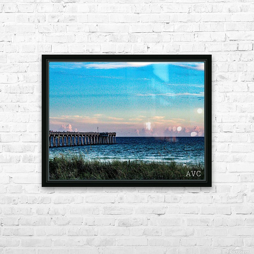 Sunset Beach HD Sublimation Metal print with Decorating Float Frame (BOX)