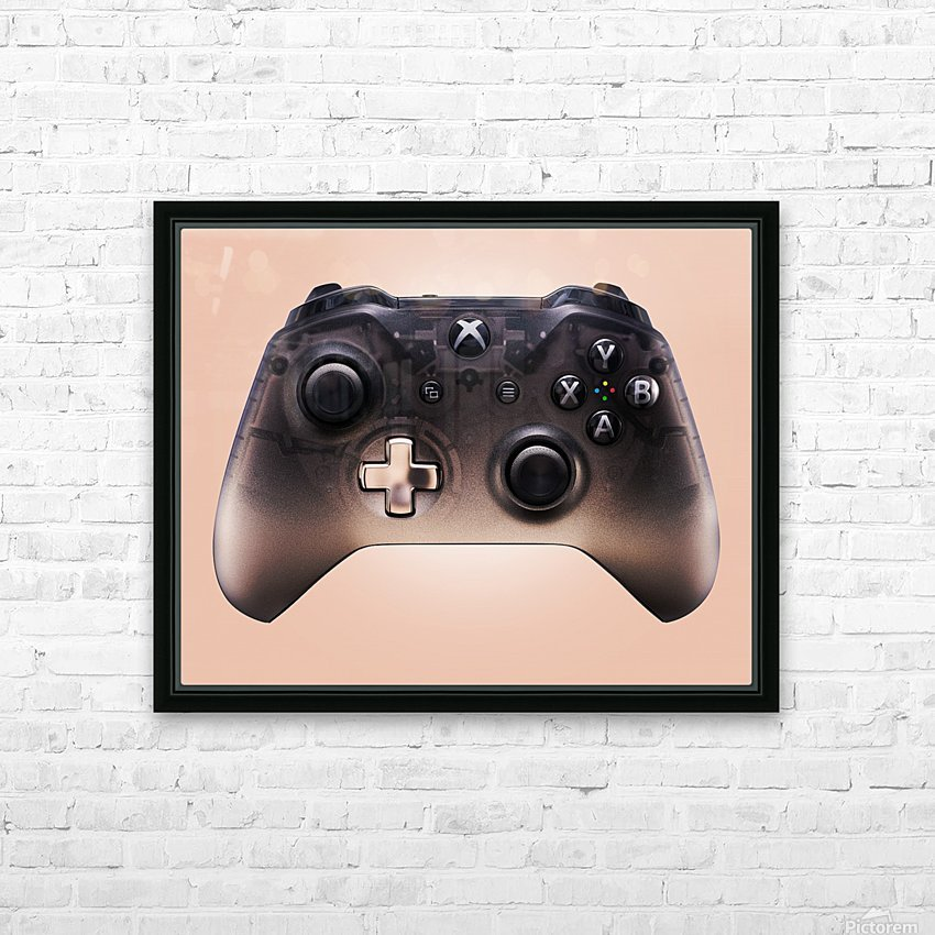 Gaming Controller v3 HD Sublimation Metal print with Decorating Float Frame (BOX)