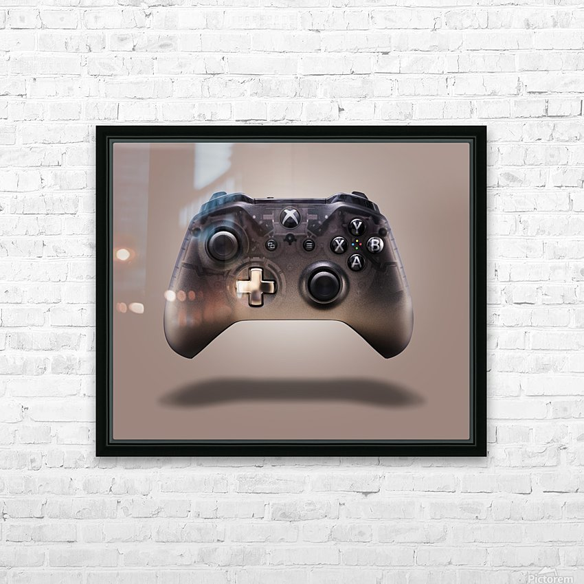 Gaming Controller v2 [extra large] HD Sublimation Metal print with Decorating Float Frame (BOX)