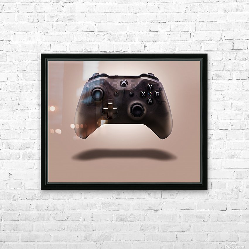 Gaming Controller v1 HD Sublimation Metal print with Decorating Float Frame (BOX)