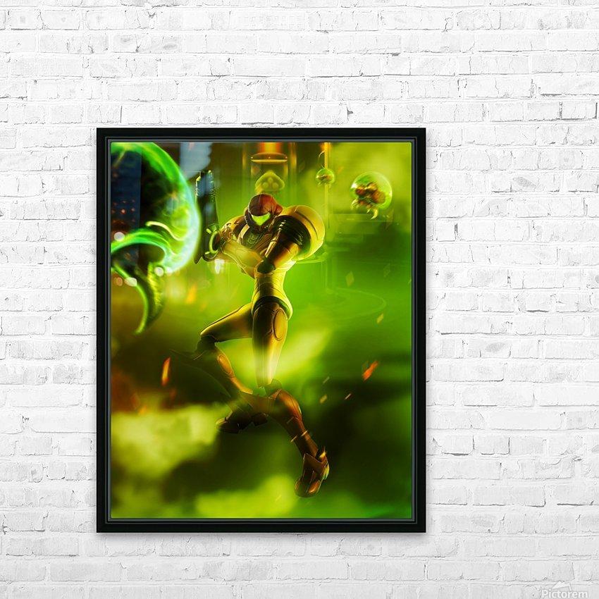 Samus Aran Super Metroid HD Sublimation Metal print with Decorating Float Frame (BOX)