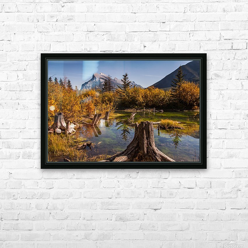 Vermilion Lakes Pond IMG_7045  HD Sublimation Metal print with Decorating Float Frame (BOX)
