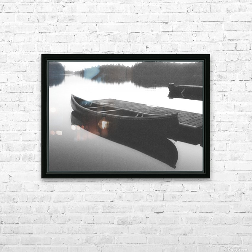 Tranquility BW HD Sublimation Metal print with Decorating Float Frame (BOX)