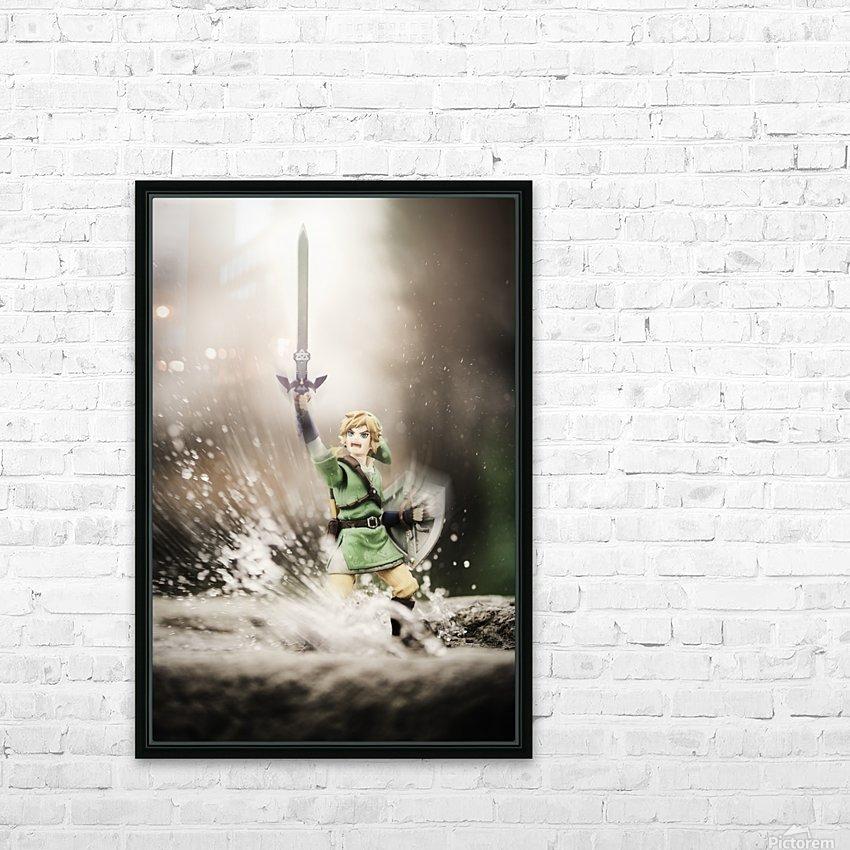Legend of Zelda - Link in Splash HD Sublimation Metal print with Decorating Float Frame (BOX)