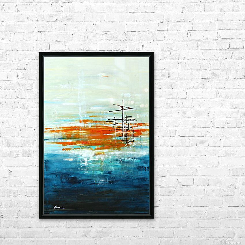 High Tide III HD Sublimation Metal print with Decorating Float Frame (BOX)
