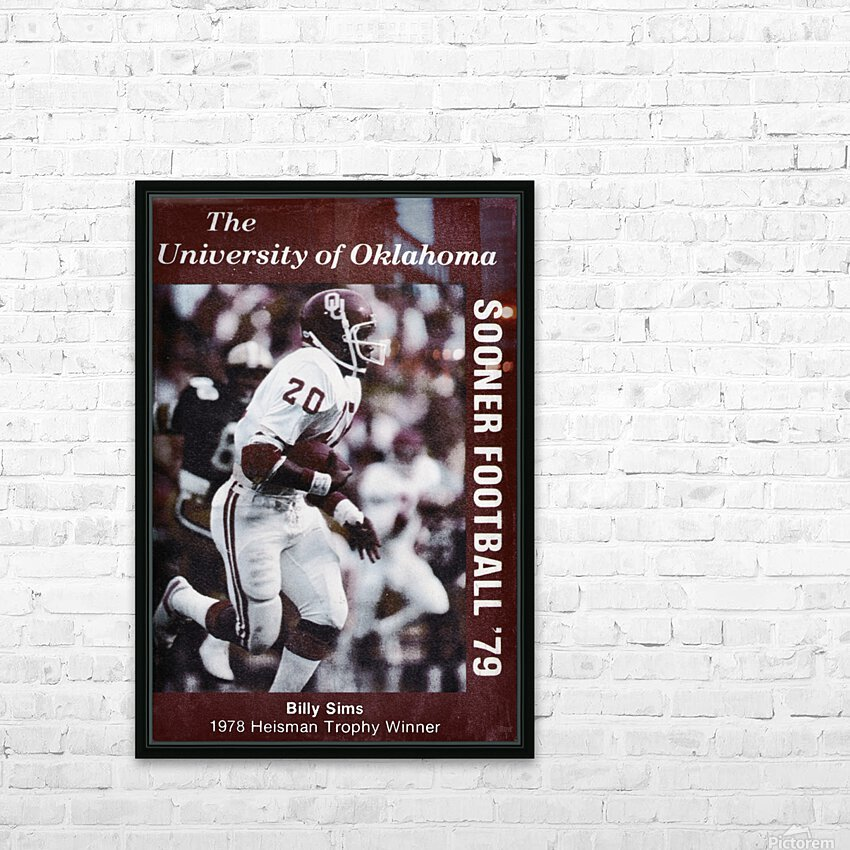 1979 billy sims oklahoma sooners football poster HD Sublimation Metal print with Decorating Float Frame (BOX)