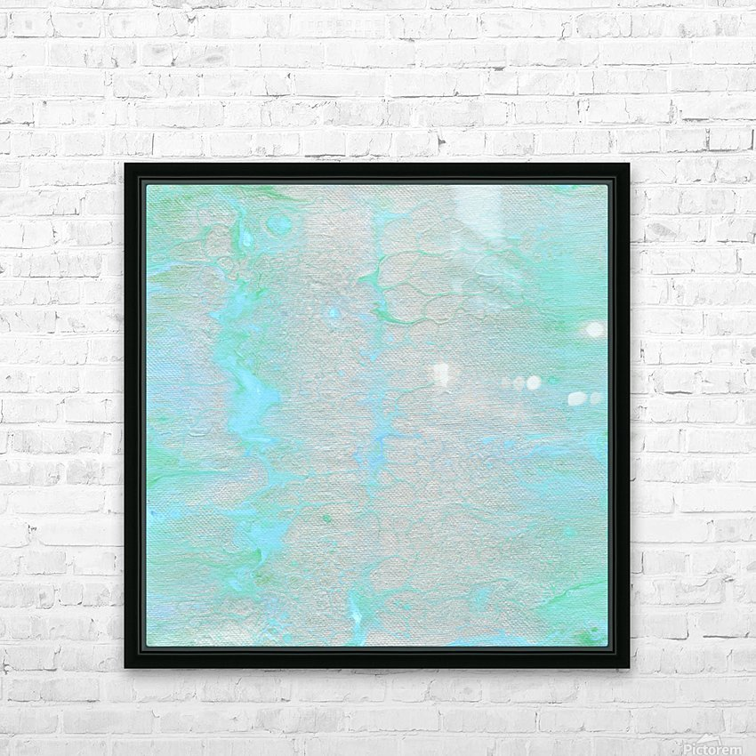 Subtle Silver HD Sublimation Metal print with Decorating Float Frame (BOX)