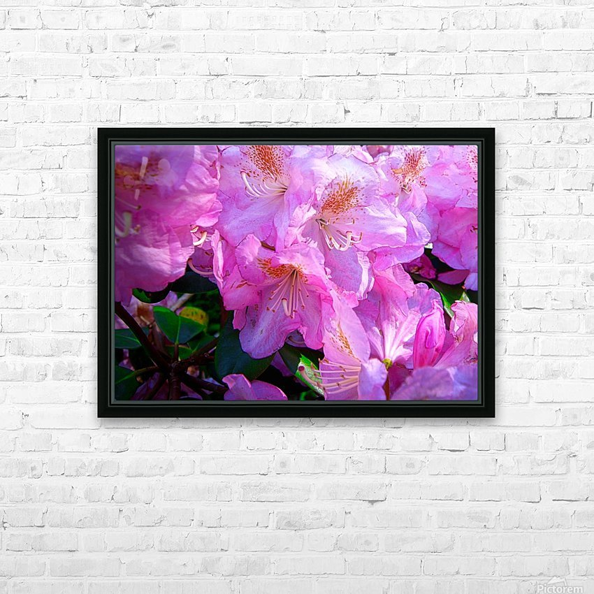 PINK FLOWER HD Sublimation Metal print with Decorating Float Frame (BOX)