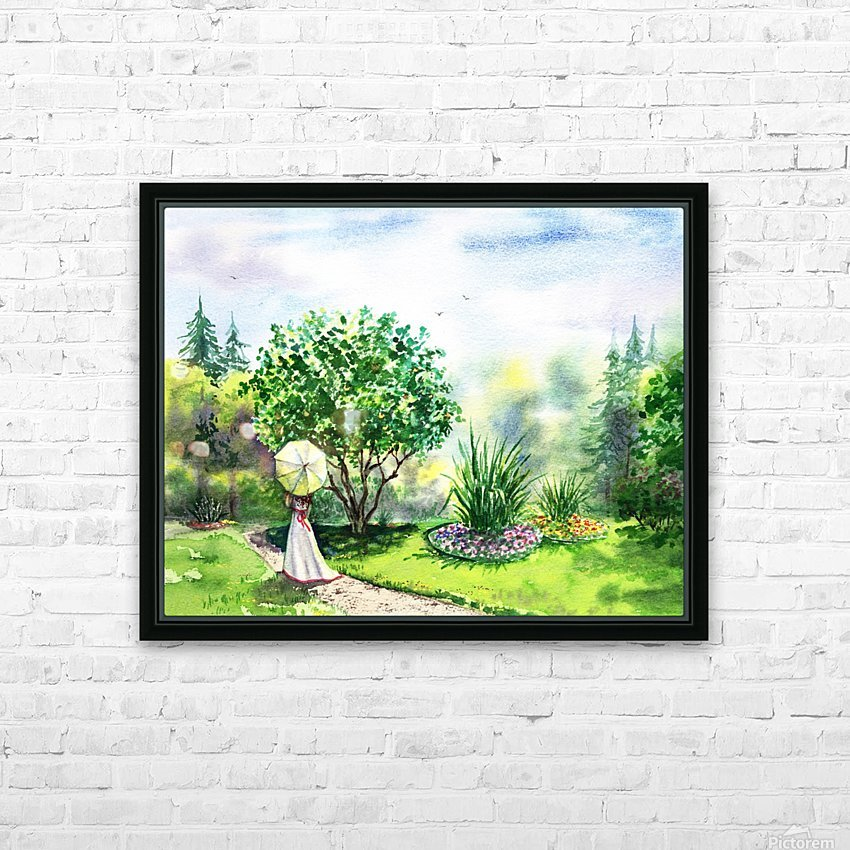 Strolling In The Garden HD Sublimation Metal print with Decorating Float Frame (BOX)