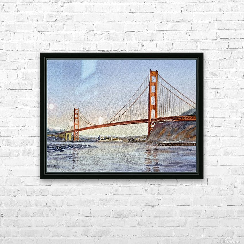 San Francisco California Golden Gate Bridge HD Sublimation Metal print with Decorating Float Frame (BOX)