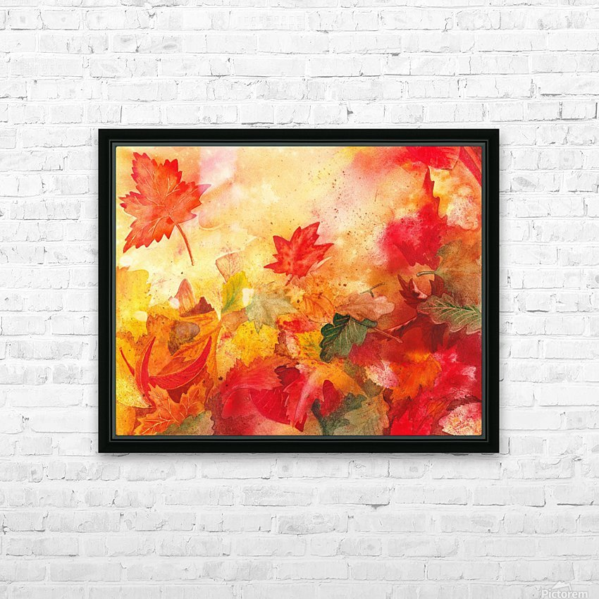 Autumn leaves Serenade  HD Sublimation Metal print with Decorating Float Frame (BOX)