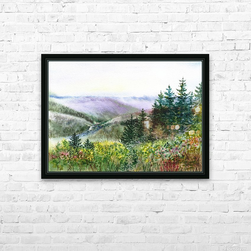 Landscape With Redwood Creek  HD Sublimation Metal print with Decorating Float Frame (BOX)