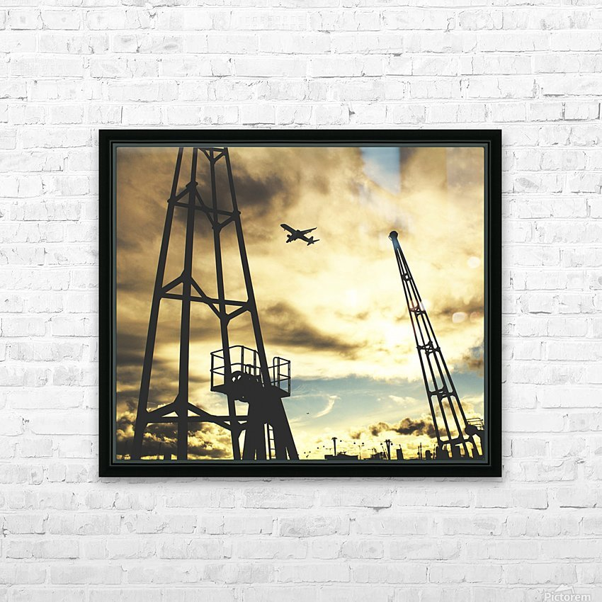 Sunset Sky HD Sublimation Metal print with Decorating Float Frame (BOX)