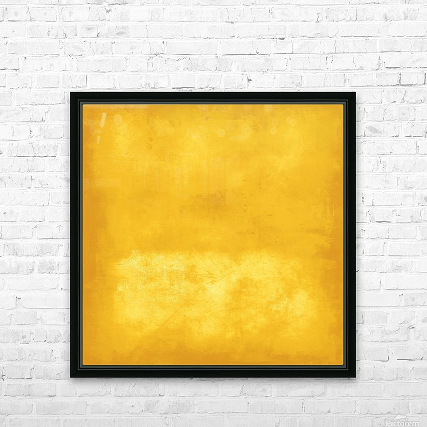 Yellow 44 HD Sublimation Metal print with Decorating Float Frame (BOX)
