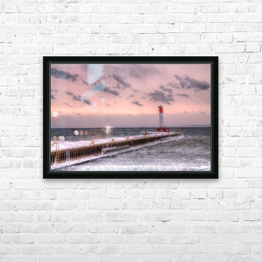 Lighthouse Oakville Pier IMG_3643_4_5 copy HD Sublimation Metal print with Decorating Float Frame (BOX)