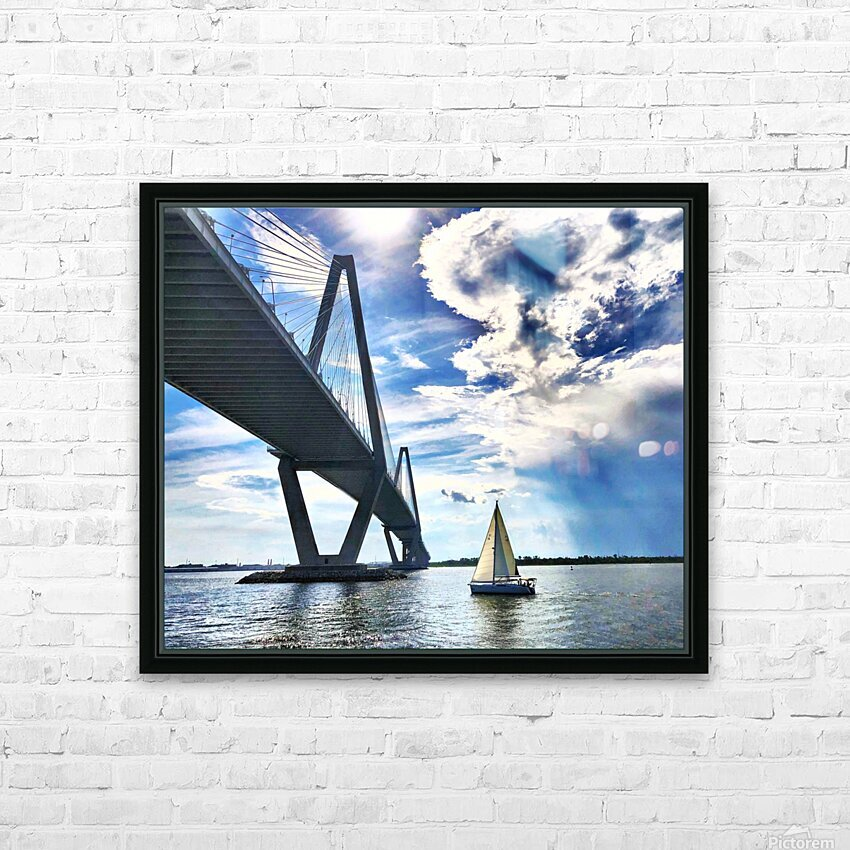 Sail Away HD Sublimation Metal print with Decorating Float Frame (BOX)