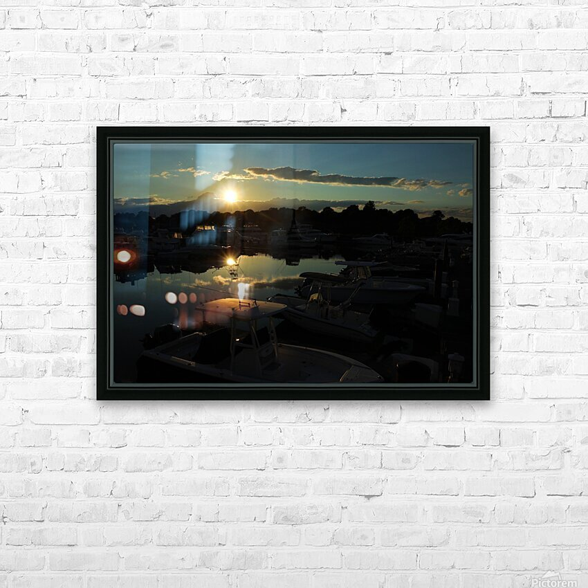 Lakeside HD Sublimation Metal print with Decorating Float Frame (BOX)
