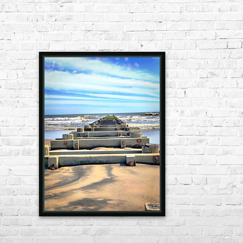 Tracks to Nowhere HD Sublimation Metal print with Decorating Float Frame (BOX)