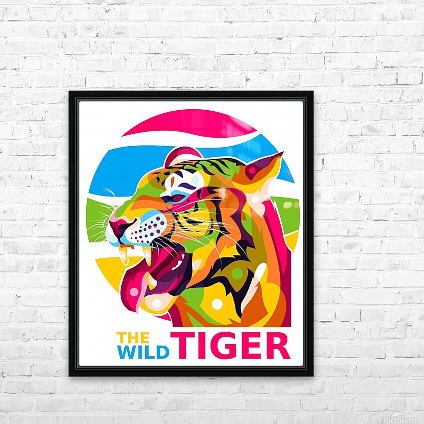 The Wild Tiger HD Sublimation Metal print with Decorating Float Frame (BOX)