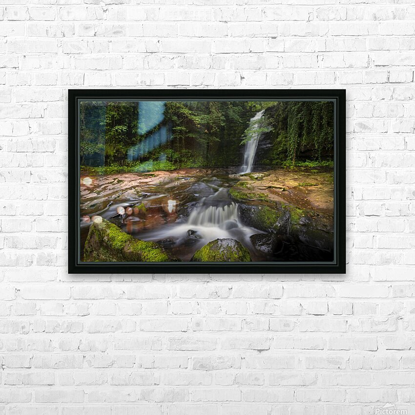 The beauty of Blaen y Glyn  HD Sublimation Metal print with Decorating Float Frame (BOX)