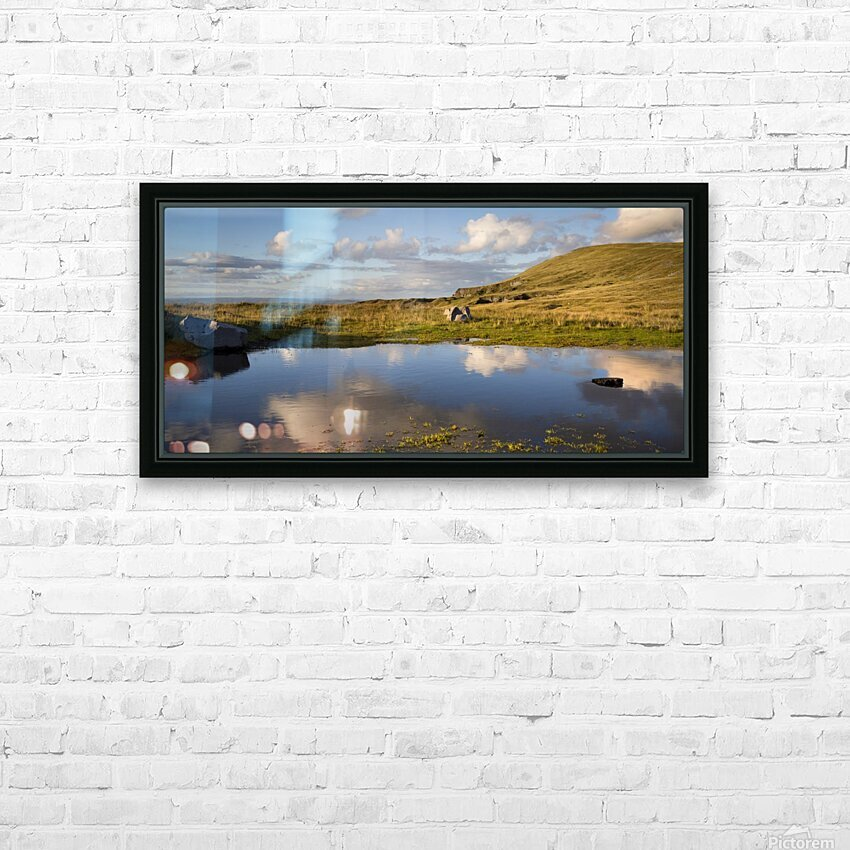 Black Mountain pool HD Sublimation Metal print with Decorating Float Frame (BOX)