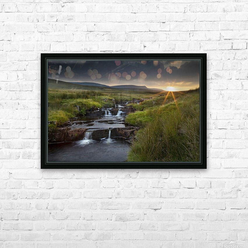 River Tawe sunset HD Sublimation Metal print with Decorating Float Frame (BOX)