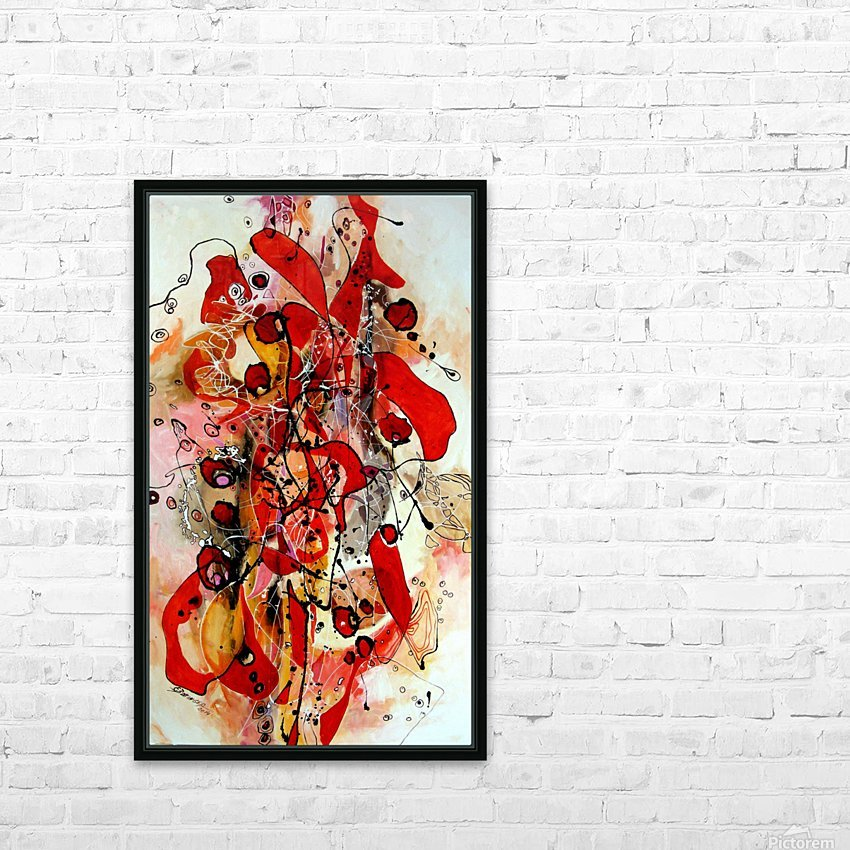 Magic red HD Sublimation Metal print with Decorating Float Frame (BOX)