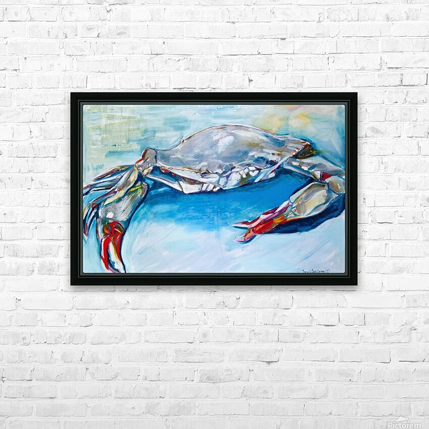 Louisiana She Soft Shell Crab HD Sublimation Metal print with Decorating Float Frame (BOX)